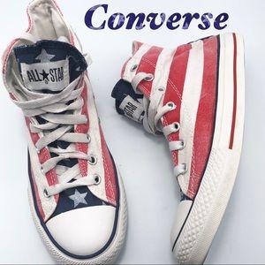 Converse Red white & Blue Hi Top Sneaker W6.5 M5.5